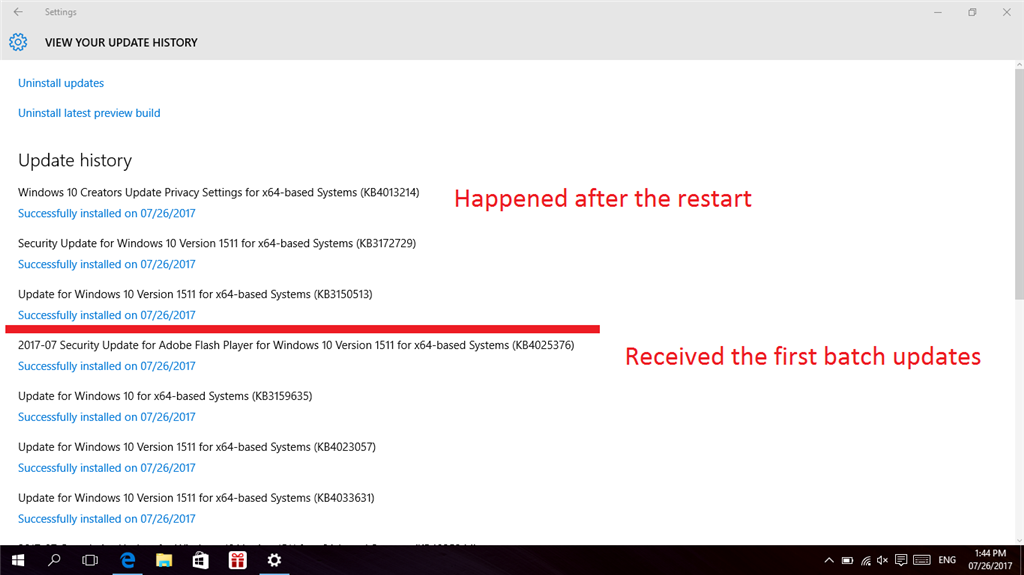 microsoft windows 10 (64 bit) version 1703 (creators update) and later