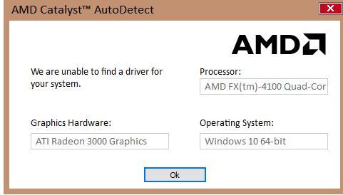 Caution Ati Amd Radeon 3000 Windows 10 Upgraders Microsoft Community