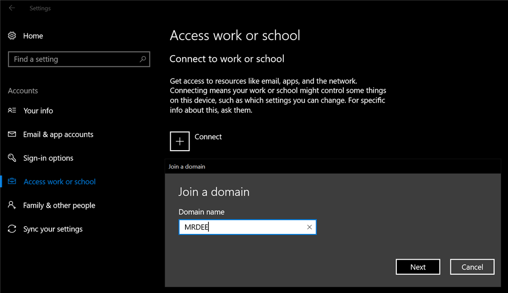 Why is the 'Join a Domain' button missing? - Microsoft Community