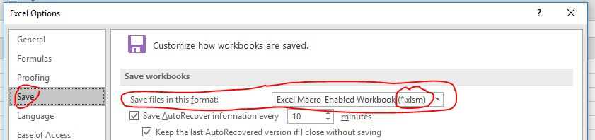 Macros Disappeared in Macro-Enabled Workbook Excel 2016 - Microsoft