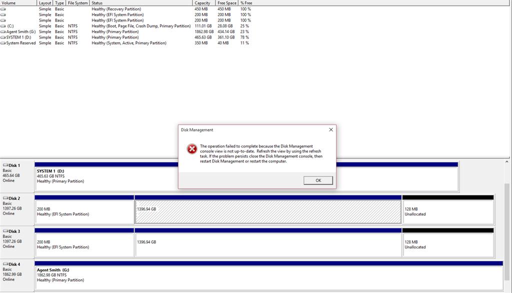 External Harddrives not mounting on Windows 10 - error