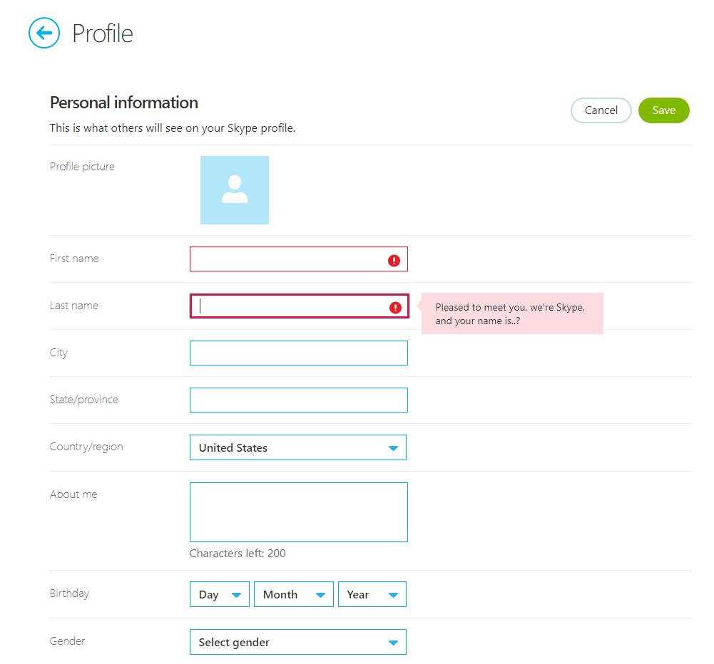 Can you change skype name