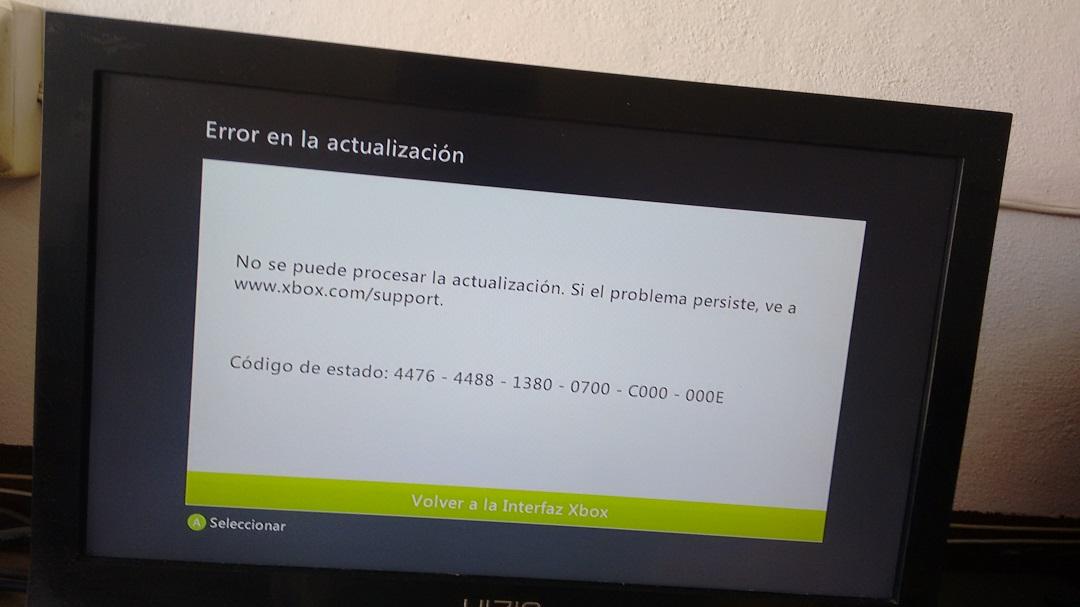 Problemas de actualización Xbox 360 21-08-2019 (Xbox 360
