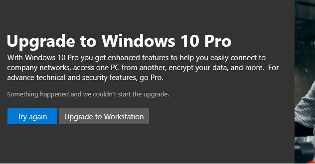 Upgrading from Windows 10 Home to Windows 10 Pro - Microsoft Community