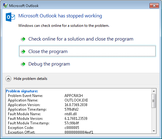 outlook exe