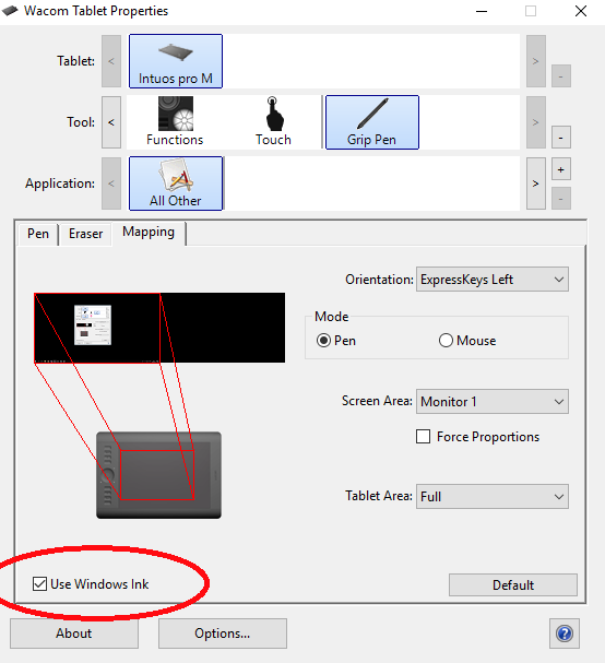 Image result for wacom use windows ink