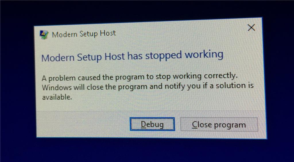 Feature update to Windows 10, version 1703 - Error 0x80070005