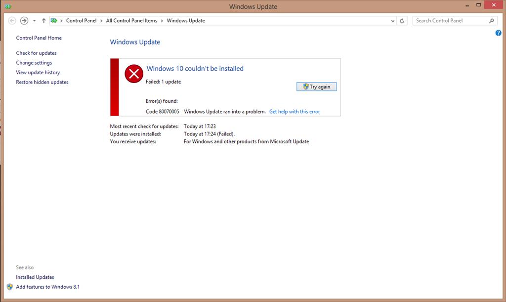 Repair Windows Update Errors