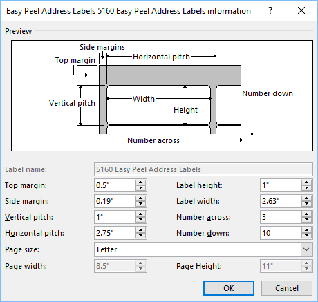 when you click ok the resulting label definition will be saved in the othercustom group in the label vendors dropdown