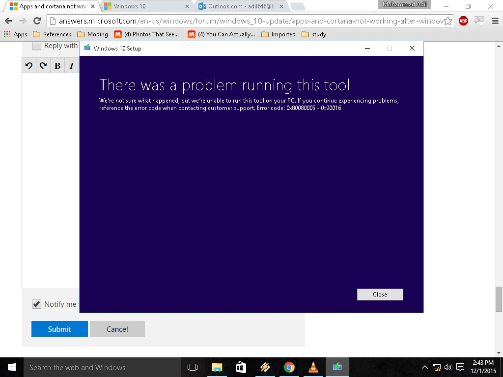 window apps not working