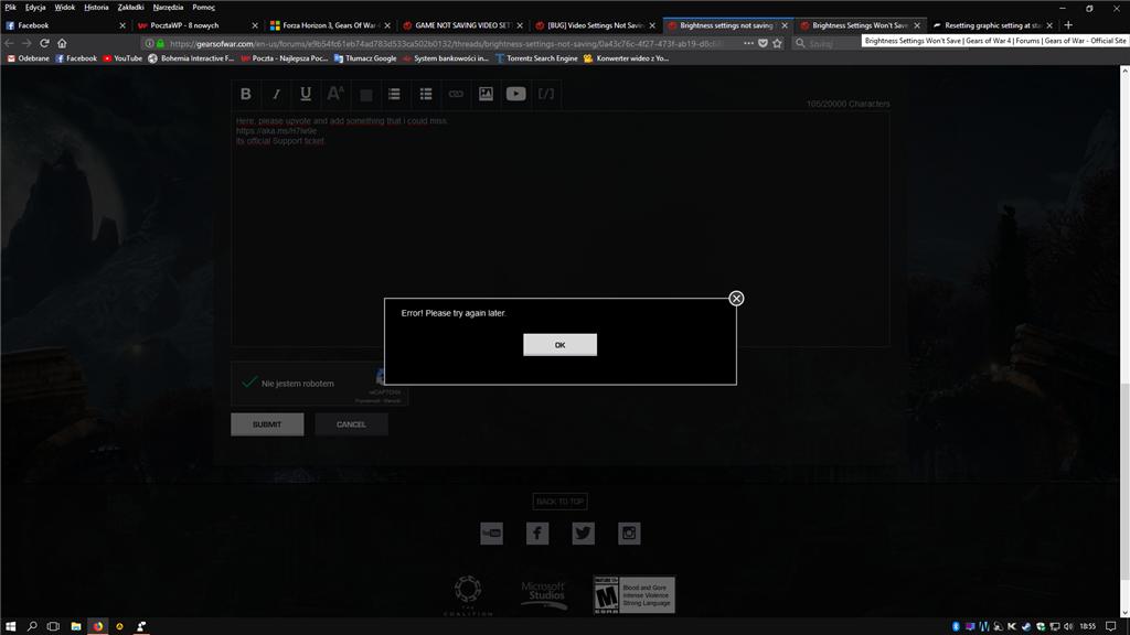 forza horizon 3 failed to resolve server address pc