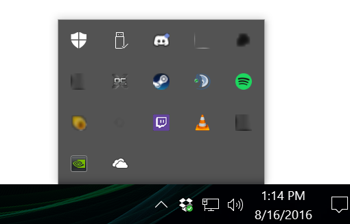 windows 10 system tray icons not showing