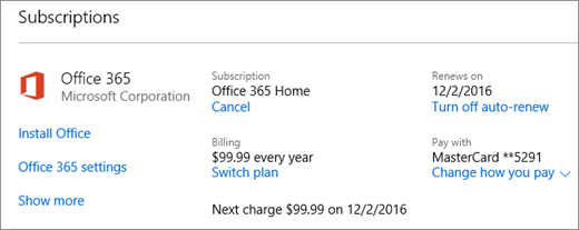 how to cancel a trial subscription to office 365 home  - Microsoft