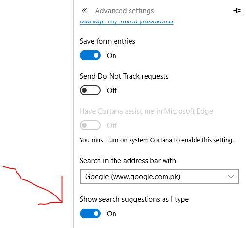 Turn off search suggestions in MIcrosoft Edge  - Microsoft Community