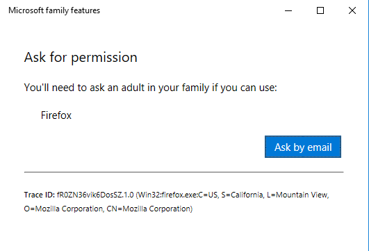 Microsoft family features blocking firefox!!!! - Microsoft