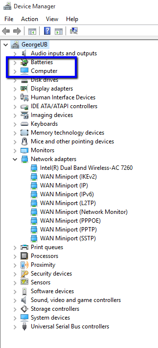 Bluetooth not present in Device Manager in Windows 10