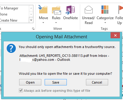 how to open pdf attachments in outlook