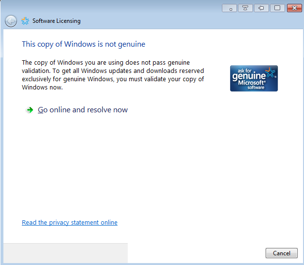 windows 7 genuine software