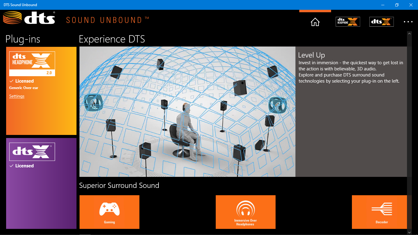 DTS Sound Unbound - Could System requirements be answer to when this