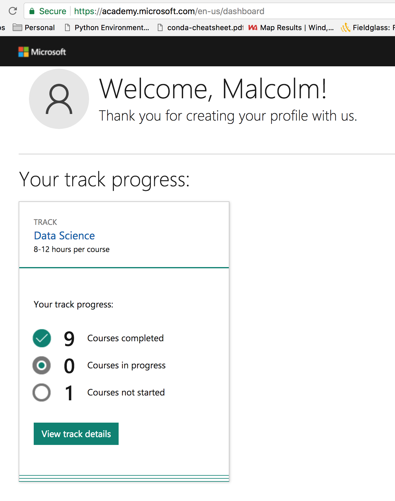 Data Science Capstone Course Not Showing As Started In Data Science