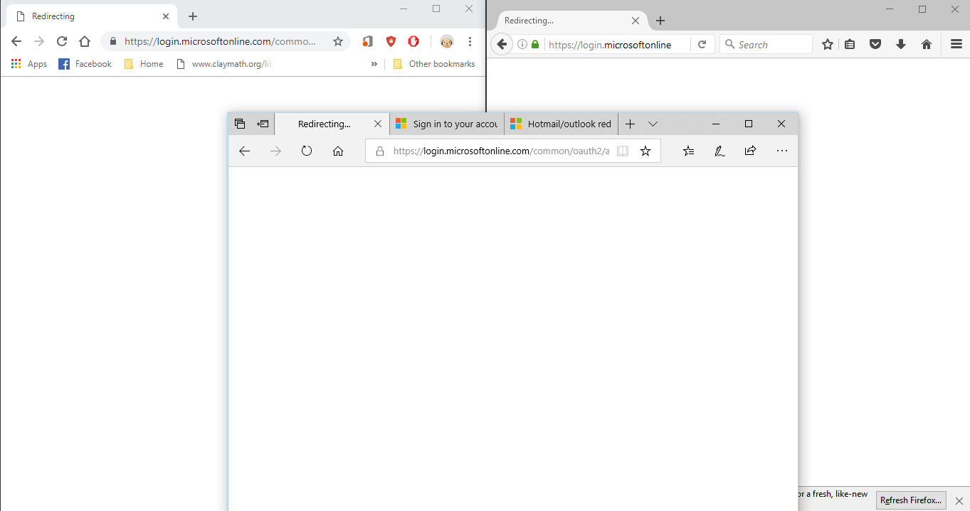 Having Trouble Logging Into My Email From Redirecting Microsoft Community