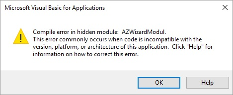 Word Vba Compile Error In Hidden Module