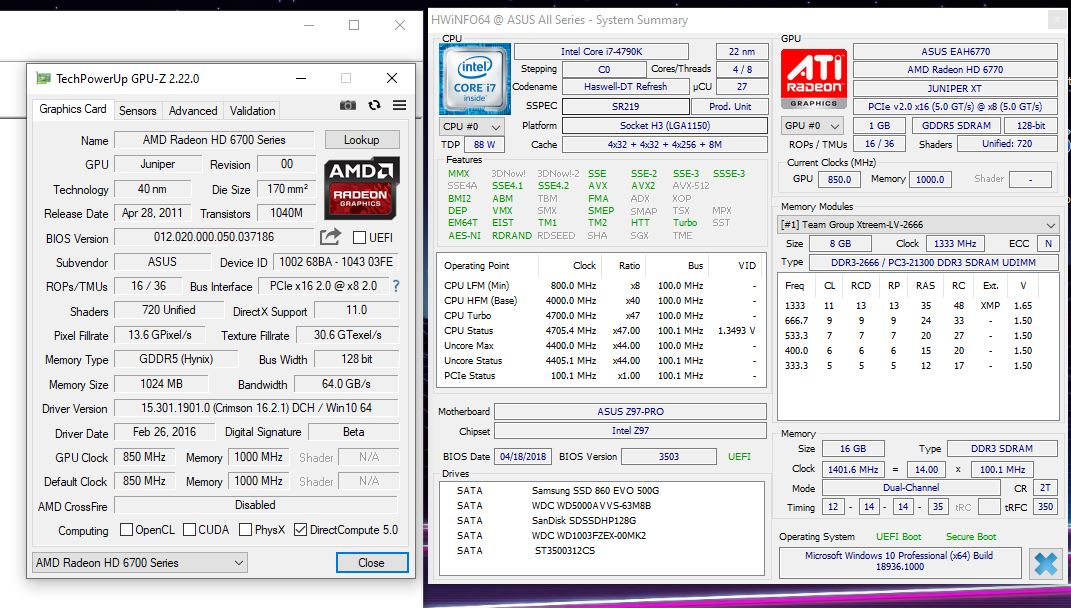 18936 vs RADEON driver (only this Build is Very very Slow