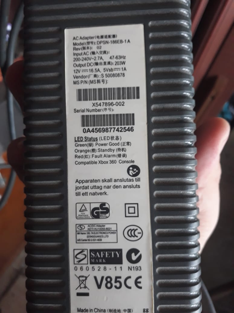 200-240V/203W PSU on an Xbox 360 Elite. What'll do? Burn ... on