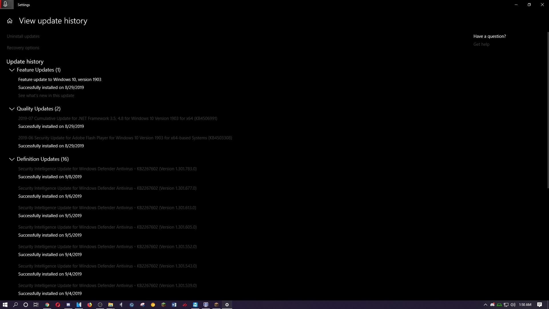 While in Full Screen, my screen goes Black  - Microsoft