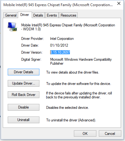 INTEL GMA 945 DRIVERS FOR PC