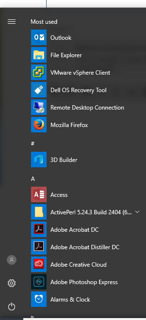 windows 10 all programs missing from start menu