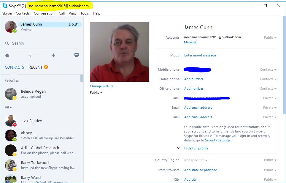Skype Username Microsoft Community
