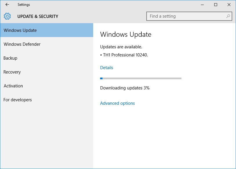 How to upgrade from the windows 10 insider preview to windows 10 rtm wait while windows 10 build 10240 downloads ccuart