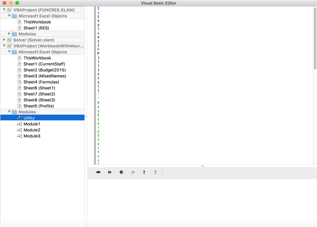 Visual Basic Editor Display - Microsoft Community