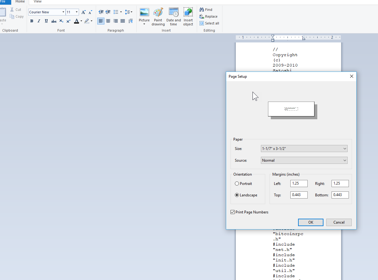 Wordpad opens in label size how to select 85 x 11 microsoft image ccuart Images