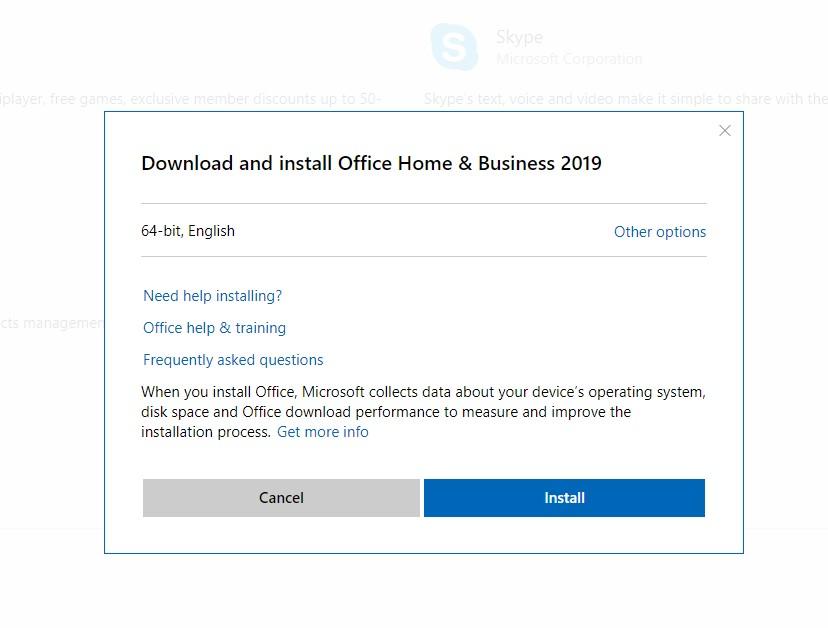 install office 2019 offline