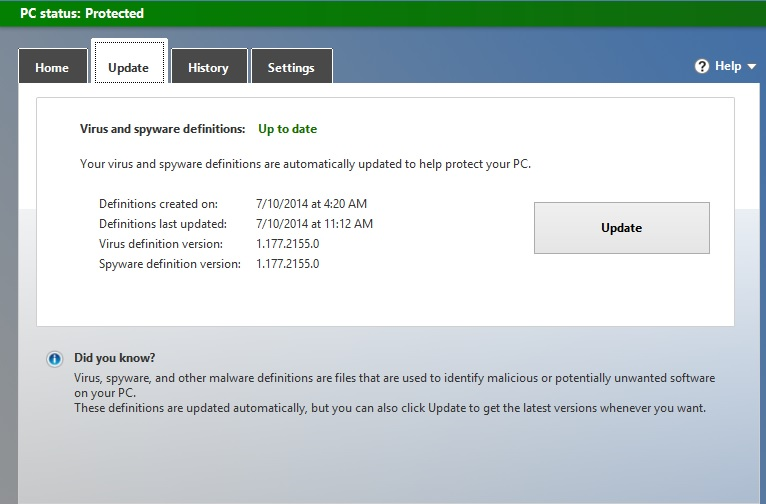 cannot enable or update microsoft security essentials microsoft rh answers microsoft com Install Symantec Live Update Install Updates and Restart