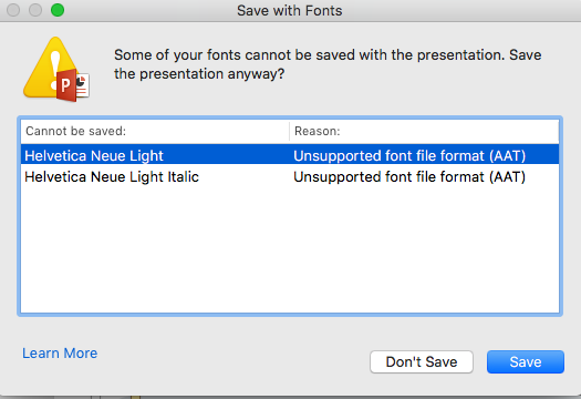 Mac fonts in PowerPoint presentation - Microsoft Community