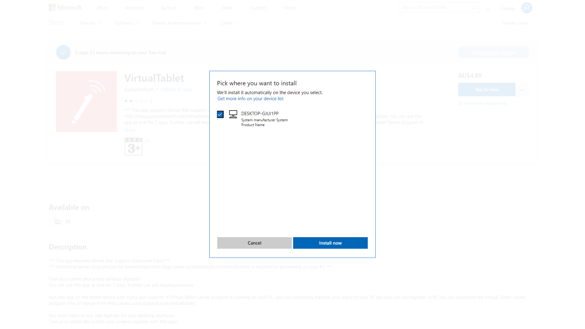 Can't Download An App on the Windows Store That I Activated