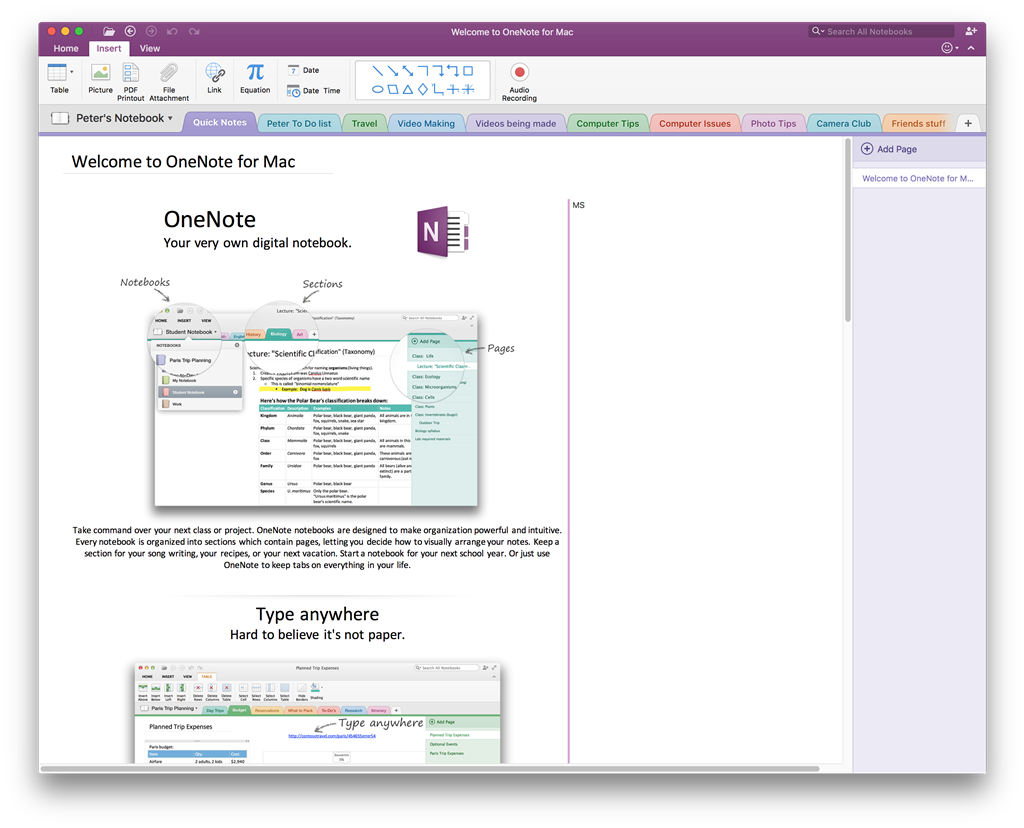 Onenote 2016 On Imac Does Not Have The Draw Function Microsoft
