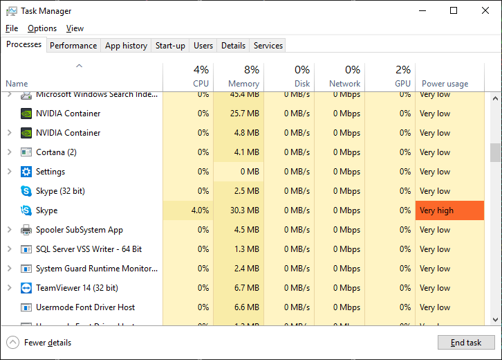 skype high cpu usage 2019