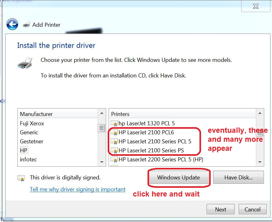 how to add autocad printer drivers windows 7