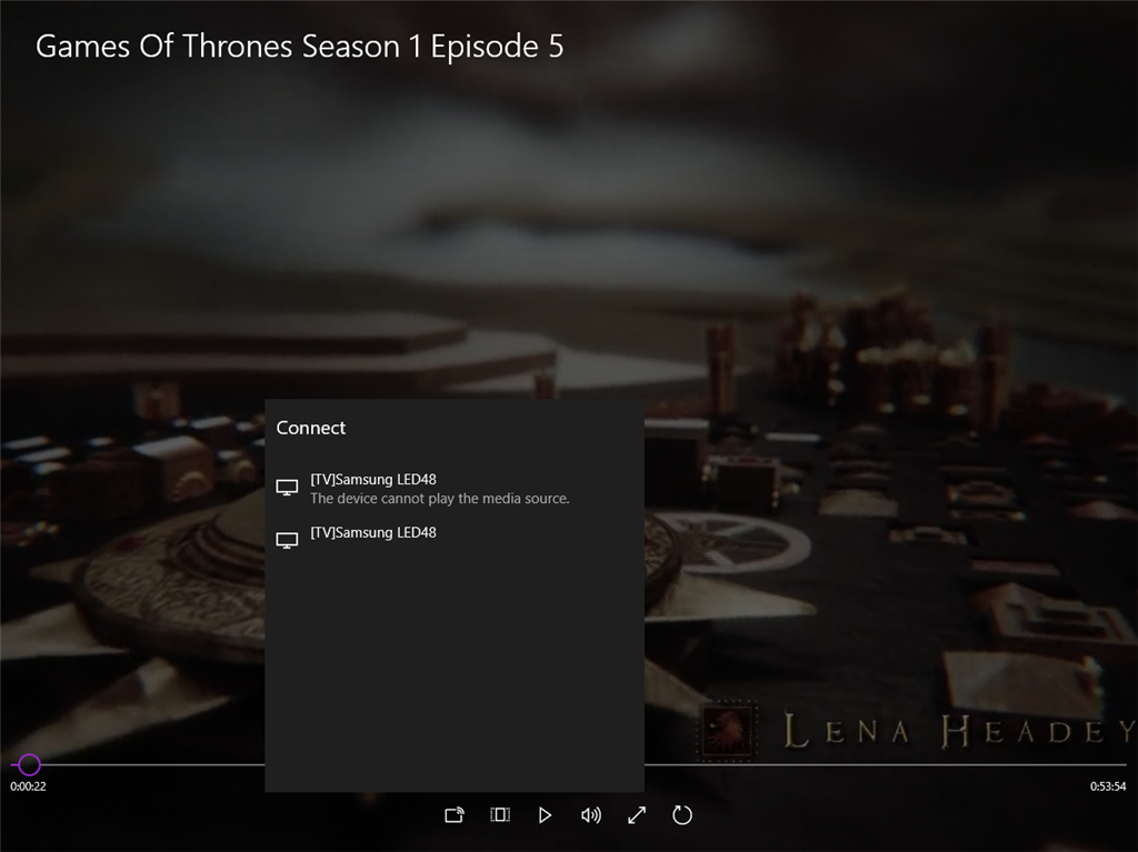 Windows 10 cast device to Samsung Smart Tv problems