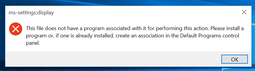 Display Settings and Personalize not working after Windows 10 update. -  Microsoft Community