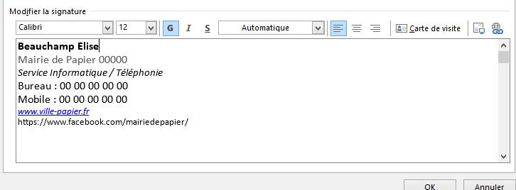 Modification Des Images Signatures Dans Outlook 2016