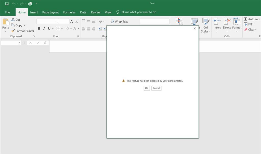 Error Message when trying to Edit Excel docs from Sharepoint