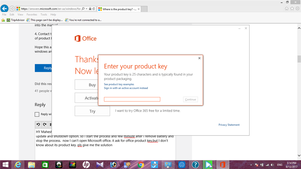 Where is the product key? - Microsoft Community