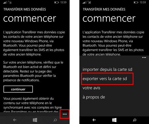 Comment Copier Les Contacts Sms Et Mms Sur La Carte Microsd Ou La Microsoft Community