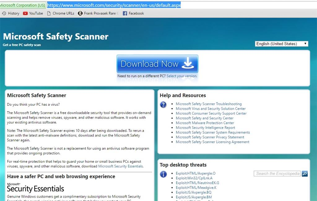 Is this a fake Microsoft Safety Scanner link - Microsoft Community