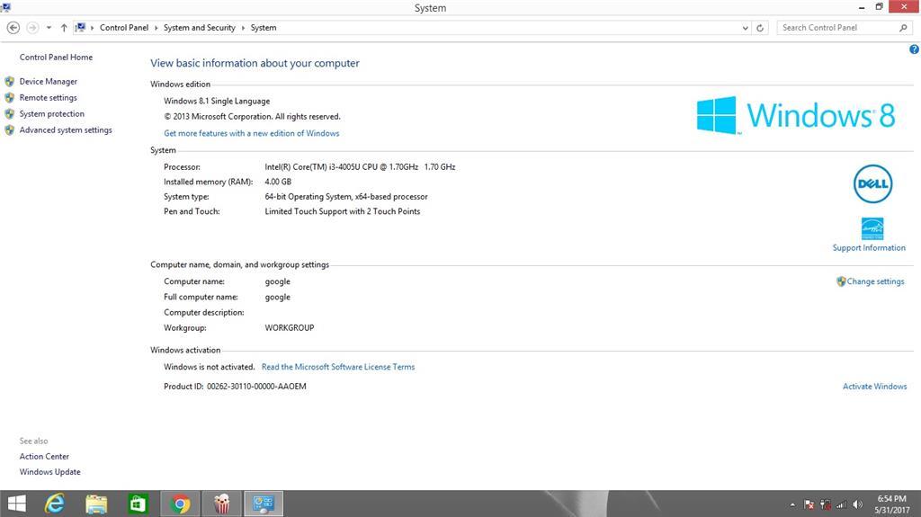 dell windows 8.1 activation key